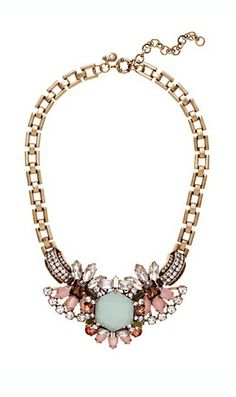 Color crystal necklace
