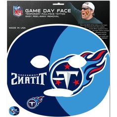 NFL Tennessee Titans Game Day Face Temporary Tattoo, Multicolor