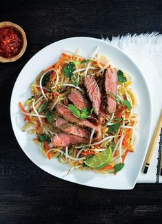 Let grilling season commence! One particularly delicious to start grilling is with this recipe for Grilled Ribeye with Vietnamese Noodles. Pepperidge Farm Cookies, Main Dishes, Side Dishes, Angus Beef, Noodle Salad, Sweet And Spicy, Entrees, Noodles, Grilling