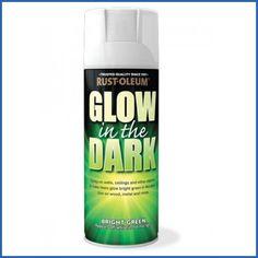 Rust-Oleum AE0010006E8 400ml Glow in Dark Spray Paint Rustoleum http://www.amazon.co.uk/dp/B007X3PZB6/ref=cm_sw_r_pi_dp_UJ2Jtb06MX7KB8HM
