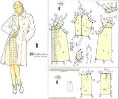 "Photo from album ""Diviertase escogiendo sus modelos"" on Yandex. Barbie Patterns, Vogue Sewing Patterns, Vintage Sewing Patterns, Clothing Patterns, Sewing Clothes, Diy Clothes, Barbie Vintage, Patron Vintage, Pattern Drafting"