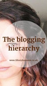 Is there a blogging hierarchy with lifestyle bloggers being at the bottom of the pile? Hopefully my experience was a one-off. The blogging hierarchy http://www.lifestylemaven.co.uk/the-blogging-hierarchy/?utm_campaign=coschedule&utm_source=pinterest&utm_medium=Vicki%20Marinker%2C%20Blogger%20at%20LifestyleMaven.co.uk%2C%20for%20your%20fabulous%2040s%20and%20beyond&utm_content=The%20blogging%20hierarchy