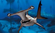 Anchor is a Hammerhead Shark that has a 360 degree Vision: Finding Nemo