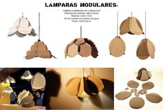 Cardboard lamps, modular designs inspired by origami and paper folding techniques. #lampsdesign #paperlamp