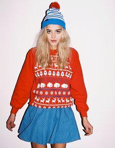 Lazy Oaf Christmas Jumper, Red or Blue?