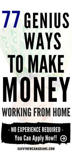 Want to make extra money in Canada and the U. Check out these 77 ways to make money online, make money from home and make money on the side. Earn Extra Cash, Making Extra Cash, Extra Money, Work From Home Jobs, Make Money From Home, Make Money Online, Ways To Save Money, Money Tips, How To Make Money