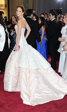 Jennifer Lawrence In Dior At The Oscars, 2013