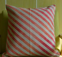 "Howarmer Decorative Throw Pillows Pink Cover Pink Stripe 18""x 18"" Howarmer http://www.amazon.com/dp/B00OXW5W72/ref=cm_sw_r_pi_dp_v4pmwb11GNT4J"