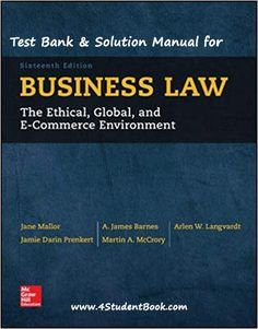 Organic chemistry 9th edition by l g wade pdf tetxbook test bank solution manual for business law 16th edition product details by jane p mallor author a james barnes author arlen w langvardt author fandeluxe Images