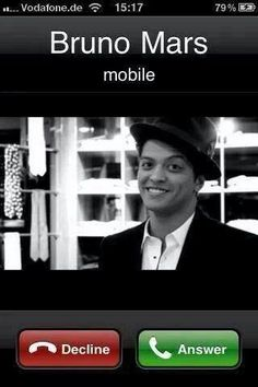 Bruno Mars - Who the hell would decline this call? Bruno Mars Quotes, The Moon Today, My Dream Came True, Famous Singers, Memes, Lol, Humor, Musicians, Beautiful People