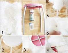Faux Fur DIY Stool