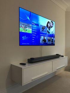 Tv Shelving, Tv In Bathroom, Design Studio Office, Modern Tech, Black Tv, Tv Storage, Penthouses, Diy Tv, Tv Decor