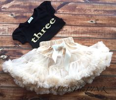 A personal favorite from my Etsy shop https://www.etsy.com/listing/255854480/birthday-ivory-chiffon-pettiskirt-set