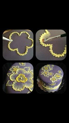 Creating icing flowers