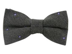 Wool Dots - Charcoal (Wool Bow Ties)