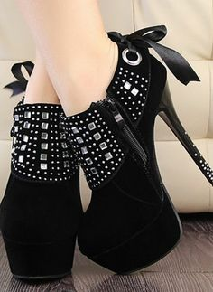 Hot Selling Fashion High Heel Platform Suede Shinning Diamond Ankle Boots