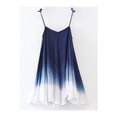 Ombre Trapeze Slip Dress (895 UAH) ❤ liked on Polyvore featuring dresses, ombre dresses, blue dress, slip dress, trapeze dresses and blue slip dress