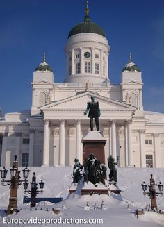 Europevideoproductions travel photo: Catheral of Helsinki in Finland in winter-time - image Finnish winter Lappland, Travel Images, Travel Photos, Visit Helsinki, Finland Travel, Europe, Travel Videos, Baltic Sea, Winter Activities