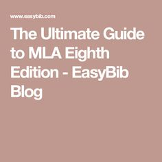 Mla Quote Mla Citing An Ebook 8Th Edition