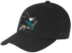 456027c4cb4 San Jose Sharks Reebok NHL Solid Black 683 Baseball Hat