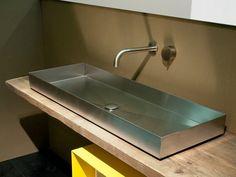Vasque à poser rectangulaire en acier INDUSTRIAL LINE   Vasque à poser - Moab 80