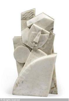 Anton Lavinski 1863-1968 Character marble