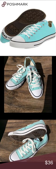 """Converse Chuck Taylors All Star """"Tiffany Blue"""" Beautiful Tiffany Chucks (Pre-Loved) in excellent condition!! Converse Shoes Sneakers"""