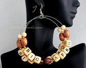 HOT Handmade #NaturalHair earrings! #afro #braids #teamnatural #earrings #etsy #locs