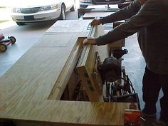 The Swiss Army Knife of Workbenches. This guy put some serious time into this, what a great setup.