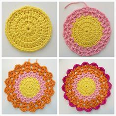 Crochet Mandala Tutorial Free mandala/flower crochet pattern.