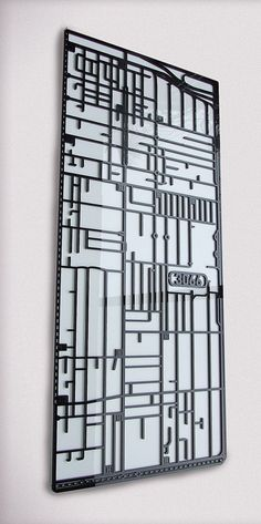 Collingwood 3066 Victoria. Superb laser cut suburb map by 3rdStone