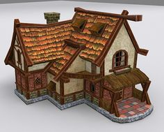 Country House 4 Model available on Turbo Squid, the world's leading provider of digital models for visualization, films, television, and games. Fantasy Town, Fantasy Castle, Fantasy House, Medieval Fantasy, Medieval Houses, Medieval Town, House 3d Model, Game Textures, 3d Modelle
