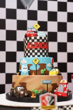 Cars Birthday Parties, 2nd Birthday, Cake, Events, Party, Desserts, Mcqueen, Food, 1 Year