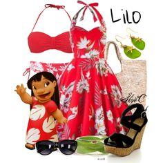 """Lilo - Summer / Beach - Disney's Lilo & Stitch"" by rubytyra on Polyvore"