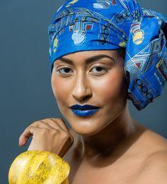 Blue Diva Head wrap