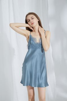 Silk Chemise with Lace | Australia | Silk Only