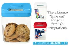 Build good habits for you and your family by locking temptations in the Kitchen Safe. This time locking container was featured on Shark Tank!
