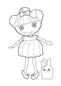 Lalaloopsy Doll coloring page for kids printable free