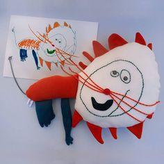 e12c7acf8e3c ... kid's art / handmade personalized plush · Piccoloartista.com; knuffel  van kindertekening Drawing S, Kidsroom, Stuffed Animals, Dinosaur
