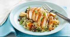 Lemon honey chicken with herby couscous