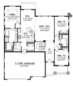 Cadford Traditional Ranch Home Plan 051D-0678 | House Plans and More