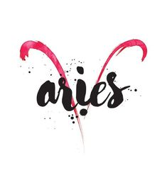 Aries Zodiac Sign Art + Horoscope from Tarot.com | #aries #zodiac #astrology