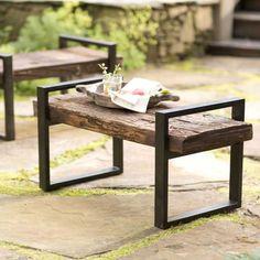 Reclaimed Outdoor Bench | VivaTerra