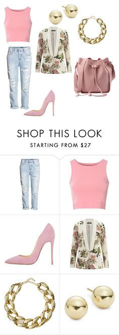 """""""Pink"""" by shttylnd ❤ liked on Polyvore featuring Glamorous, VILA, Kenneth Jay Lane and Lord & Taylor"""