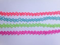 SALE Tattoo choker GLOW in the DARK choose the color by DoomStuff