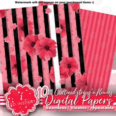 seamless #papers #patterns #digitalpapers #pink #glitter #affordable #low price #download
