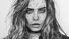 sized triangulation drawing, using Faber Castell artist pens: XS, S, F & M. Style inspired by Josh B. Simple Cartoon, Social Determinants Of Health, Anime Eyes, Elements Of Art, Portrait Inspiration, Cara Delevingne, Tattoo Sketches, Color Theory, Leg Tattoos