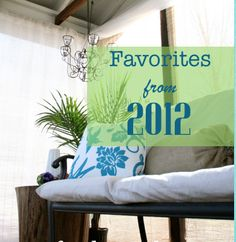 DIY – Do it Yourself {favourites of 2012}  Great ideas for reclaimed furniture!