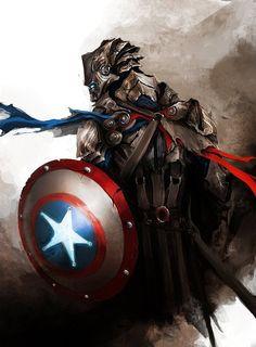 Fantasy version of Captain America