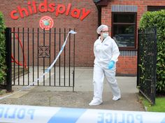 A forensics team investigated the scene at the nursery